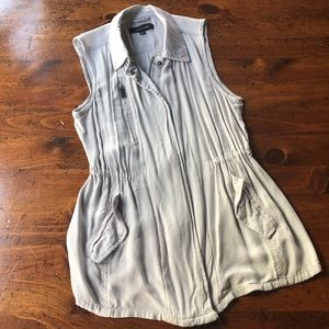 New Look Zip Up Vest Jacket size xL